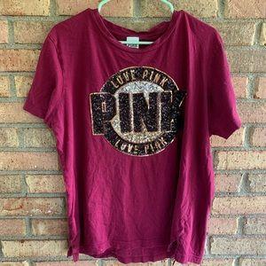 PINK VICTORIOUS SECRET t shirt